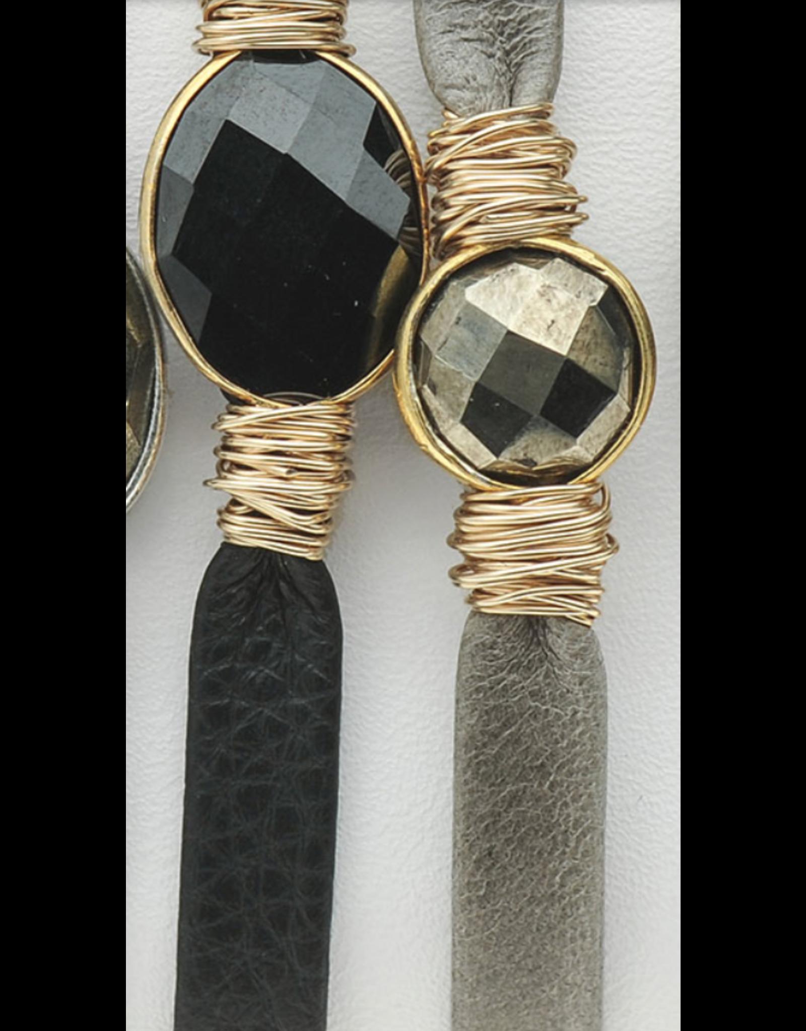 Bloom Jewelry Wrapped Stone Leather Bracelet
