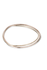 Colleen Mauer 3-color Interlocking Bangle Bracelet