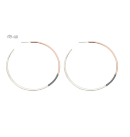 Colleen Mauer Large Tri-toned Classic Hoop Earring