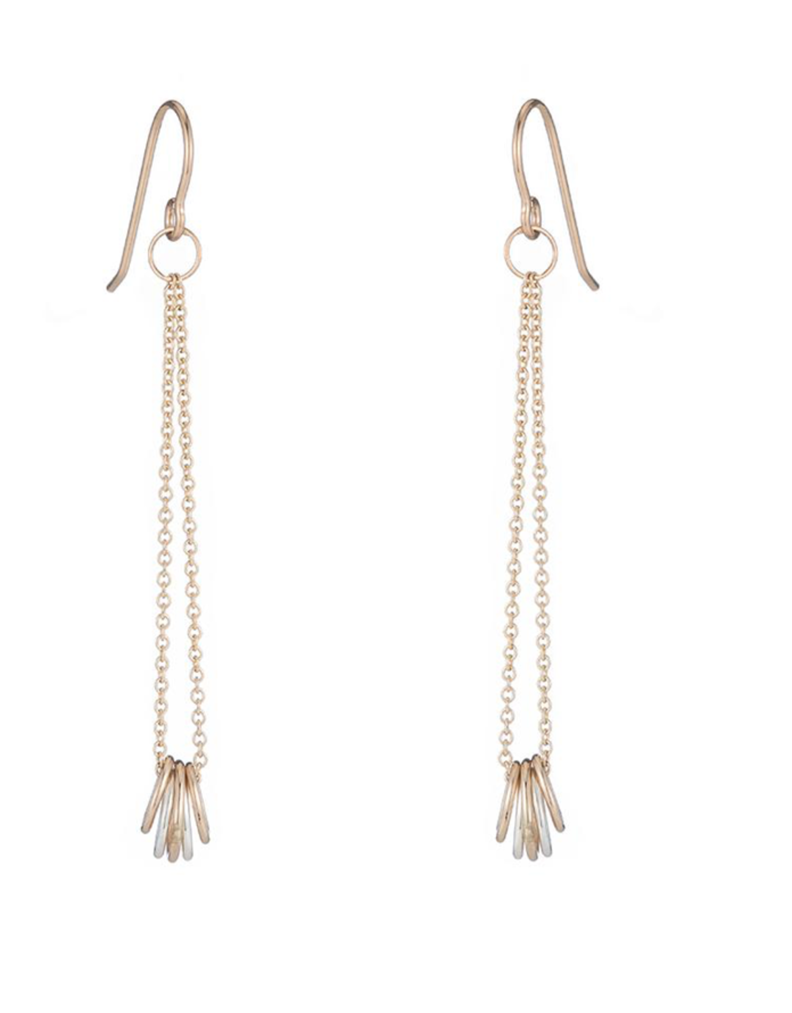Colleen Mauer Gold and Silver Cinq Earrings
