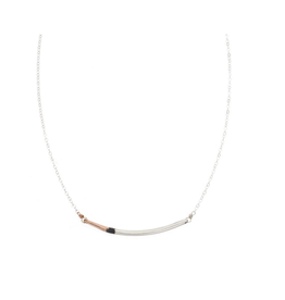 Colleen Mauer Mini Tri-toned Arc Necklace