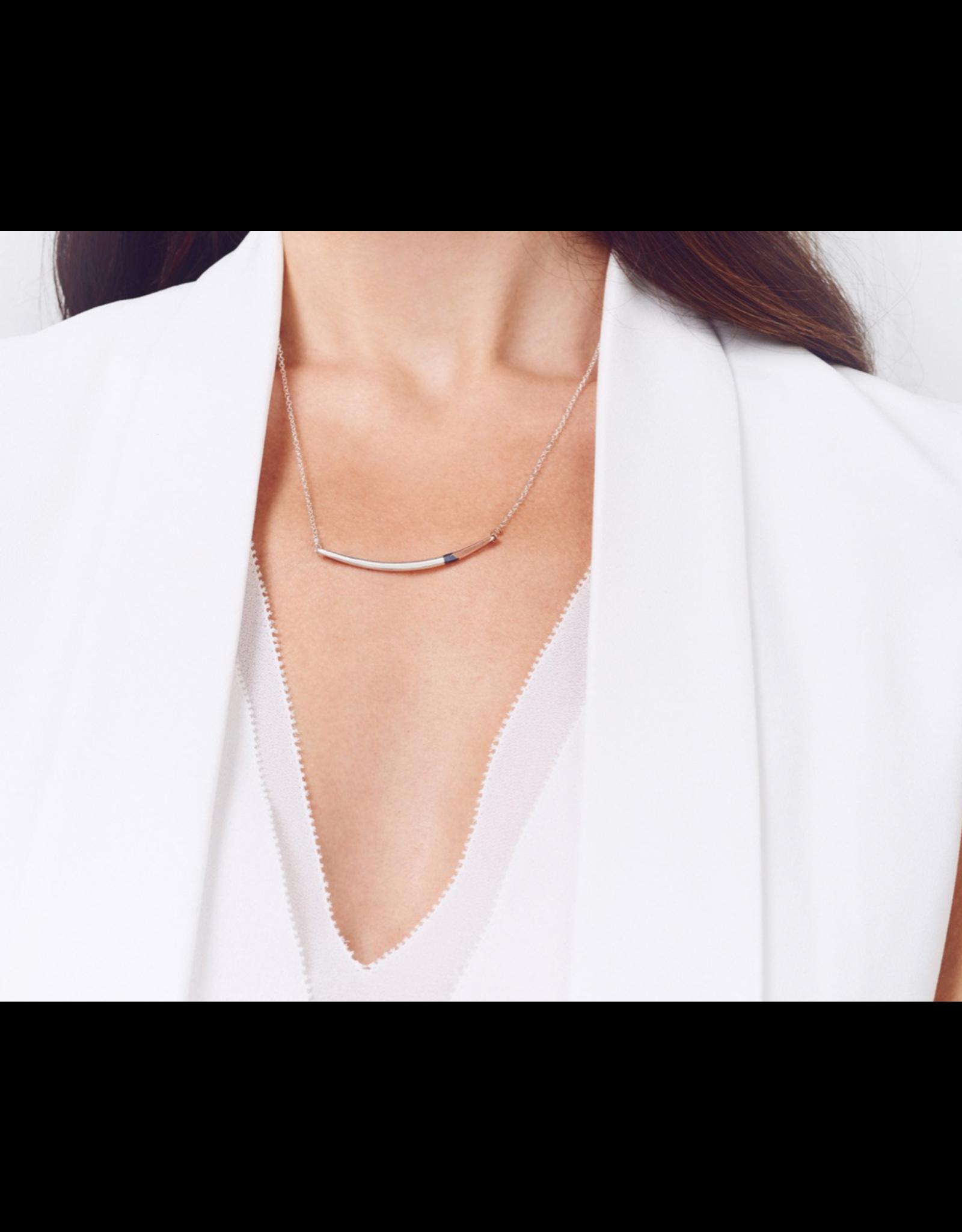 Colleen Mauer Mini Tri-toned Arc Necklace