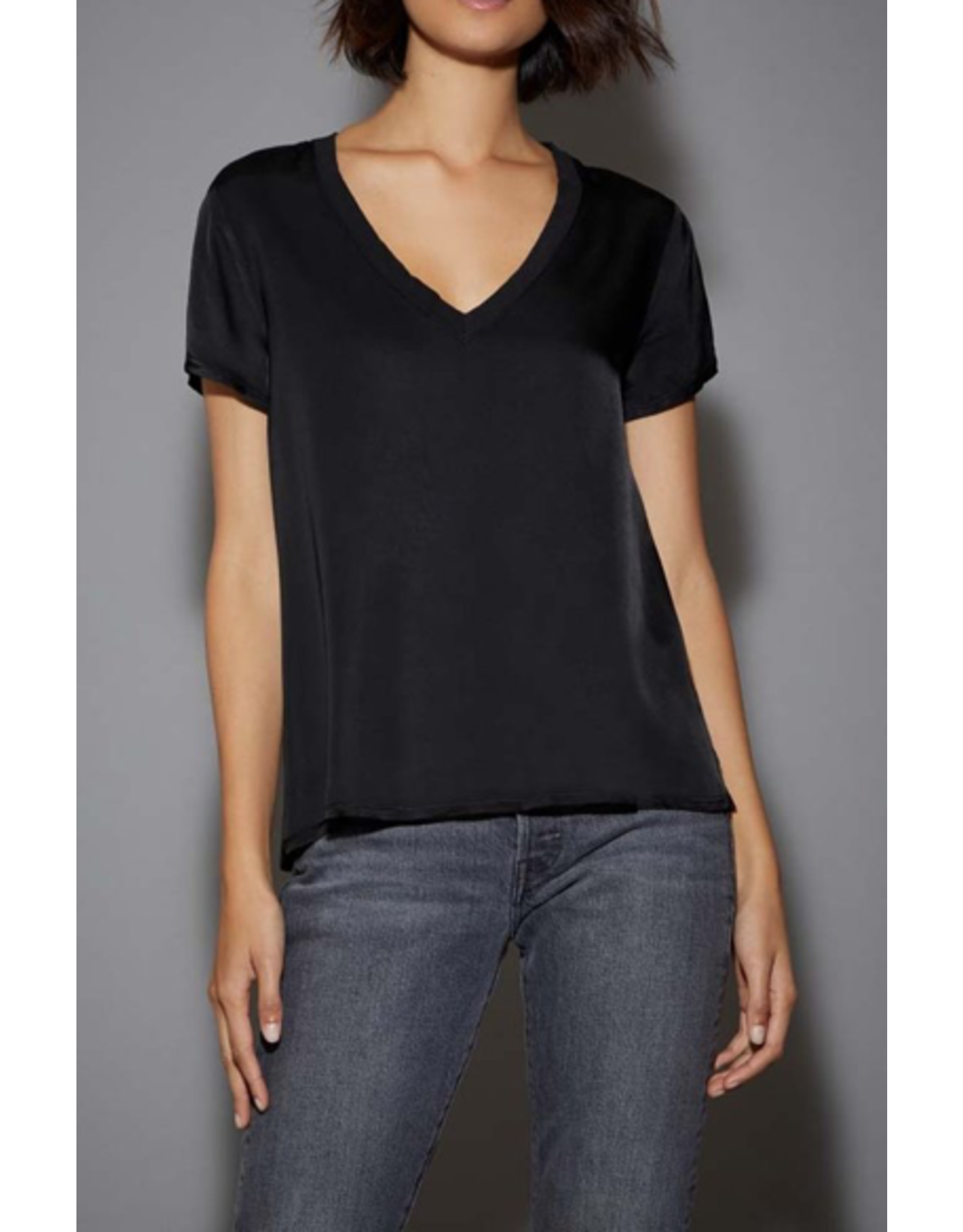 June Sateen V-Neck