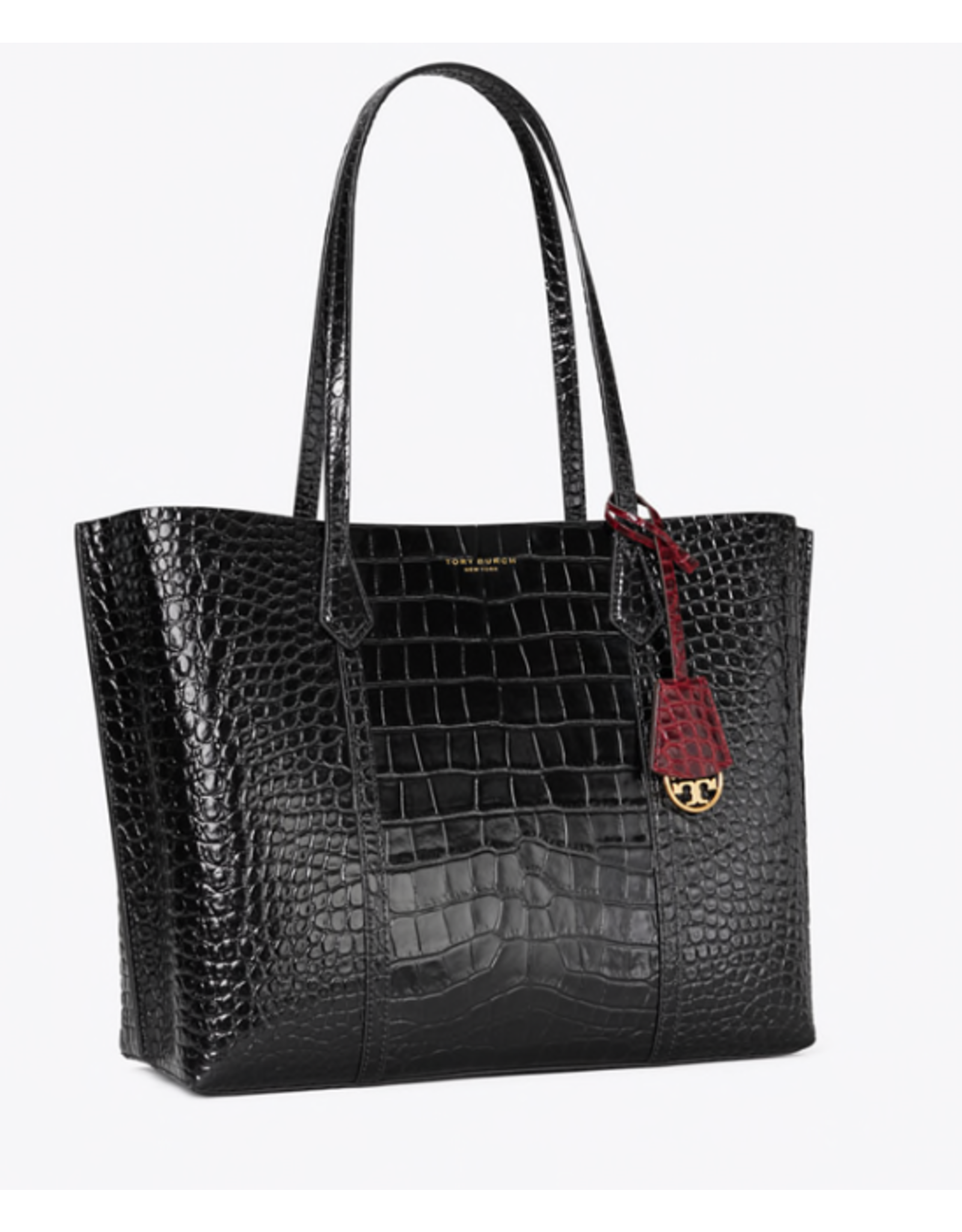 Tory Burch Perry Embossed Triple Compartment Tote