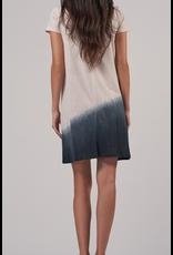 ATM Asymmetrical Dip Dye SS Dress
