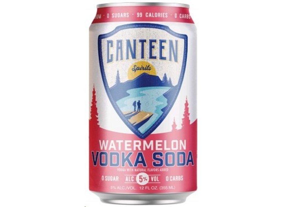 CANTEEN WATERMELON VODKA SODA 6PK/12OZ CAN