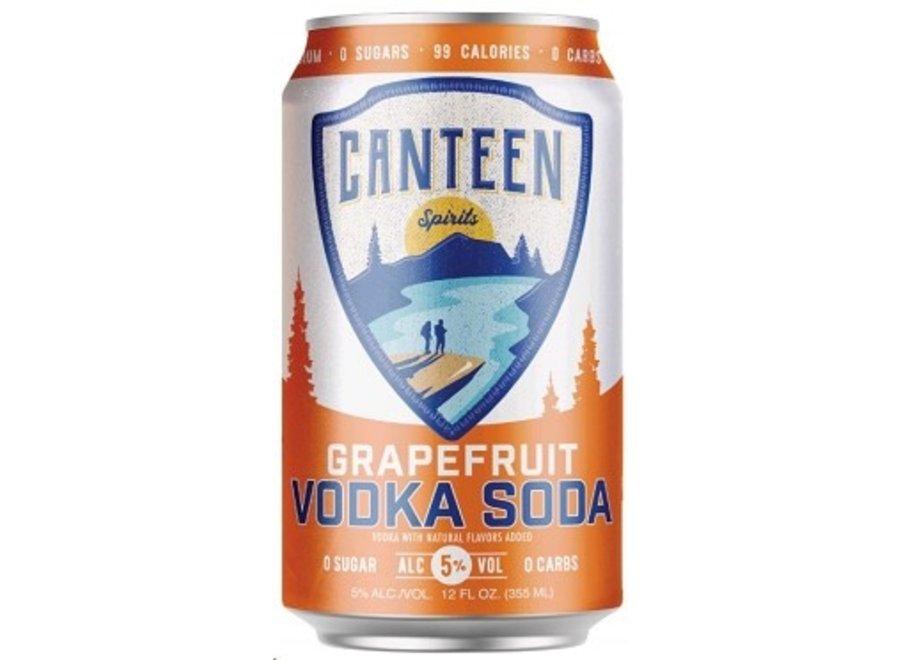 CANTEEN GRAPEFRUIT VODKA SODA 6PK/12OZ CAN