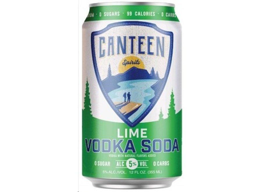 CANTEEN LIME VODKA SODA 6PK/12OZ CAN