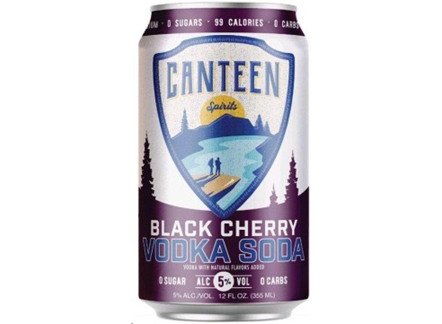 CANTEEN BLACK CHERRY VODKA SODA 6PK/12OZ CAN