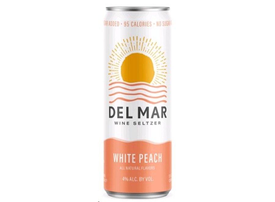 DEL MAR WHITE PEACH WINE SELTZER 4PK/355ML CAN