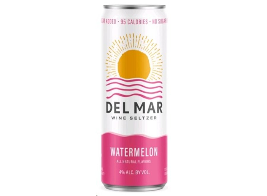 DEL MAR WATERMELON WINE SELTZER 4PK/355ML CAN