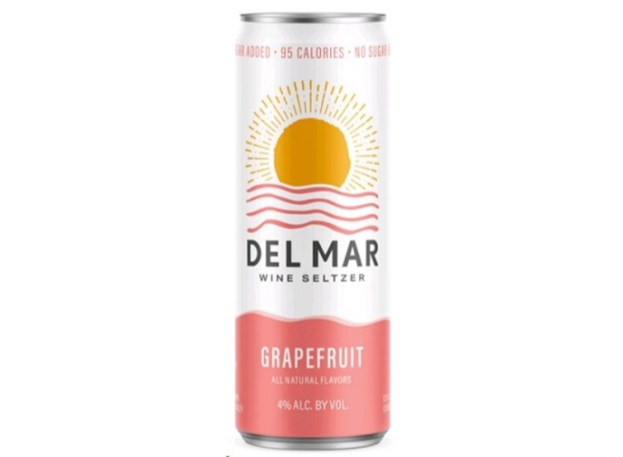 DEL MAR GRAPEFRUIT WINE SELTZER 4PK/355ML CAN