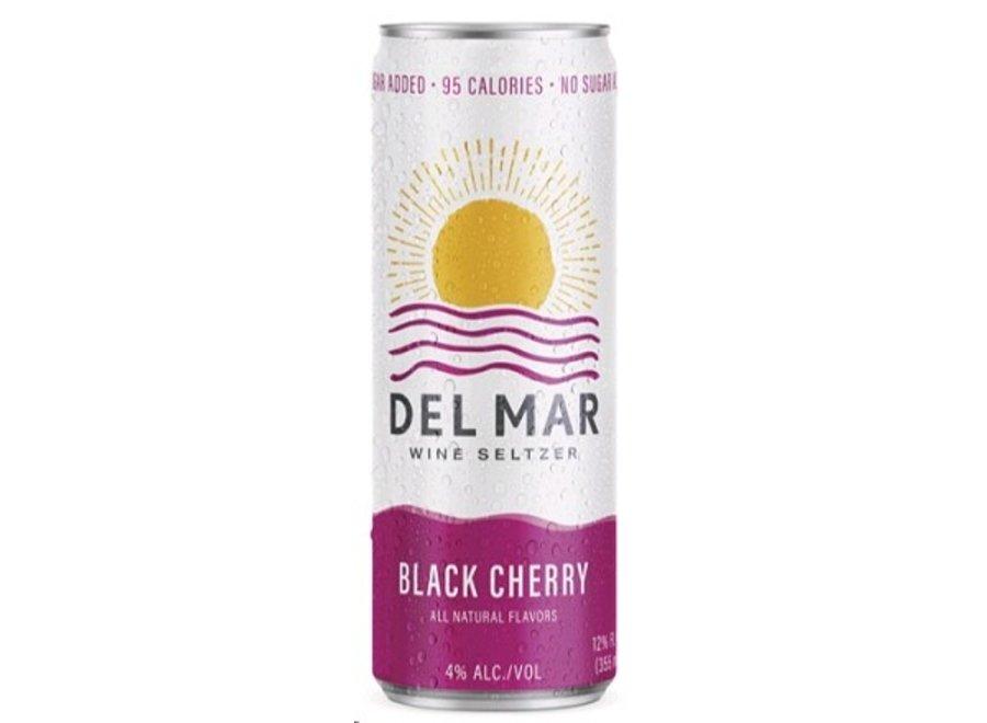 DEL MAR BLACK CHERRY WINE SELTZER 4PK/355ML CAN