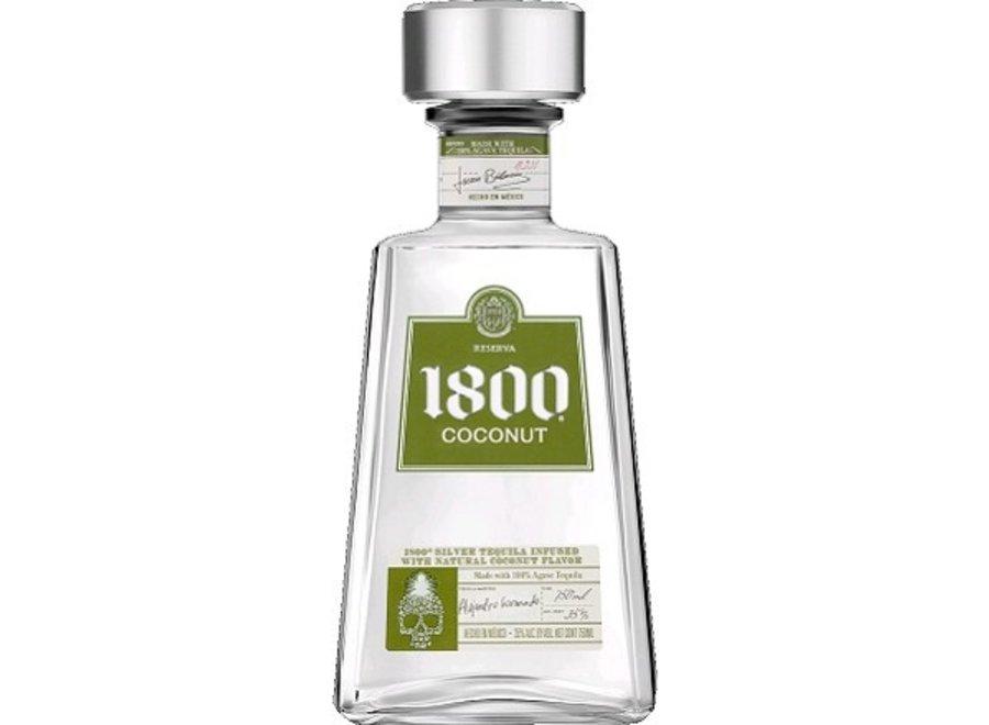 1800 SILVER COCONUT TEQUILA 750ML