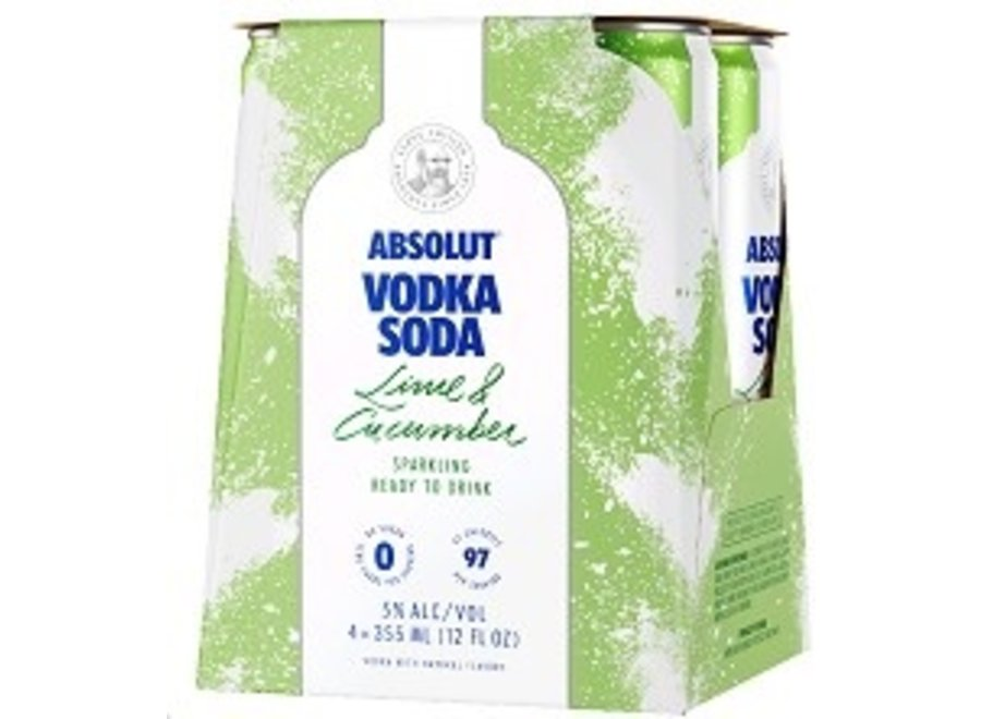 ABSOLUT LIME & CUCUMBER 4PK/12OZ CAN
