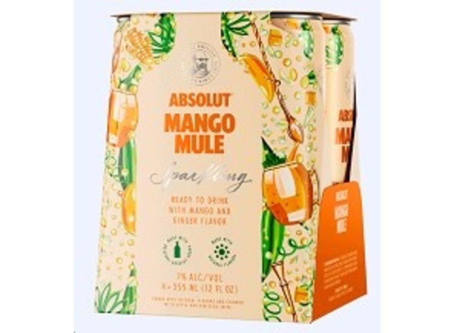 ABSOLUT MANGO MULE 4PK/12OZ CAN