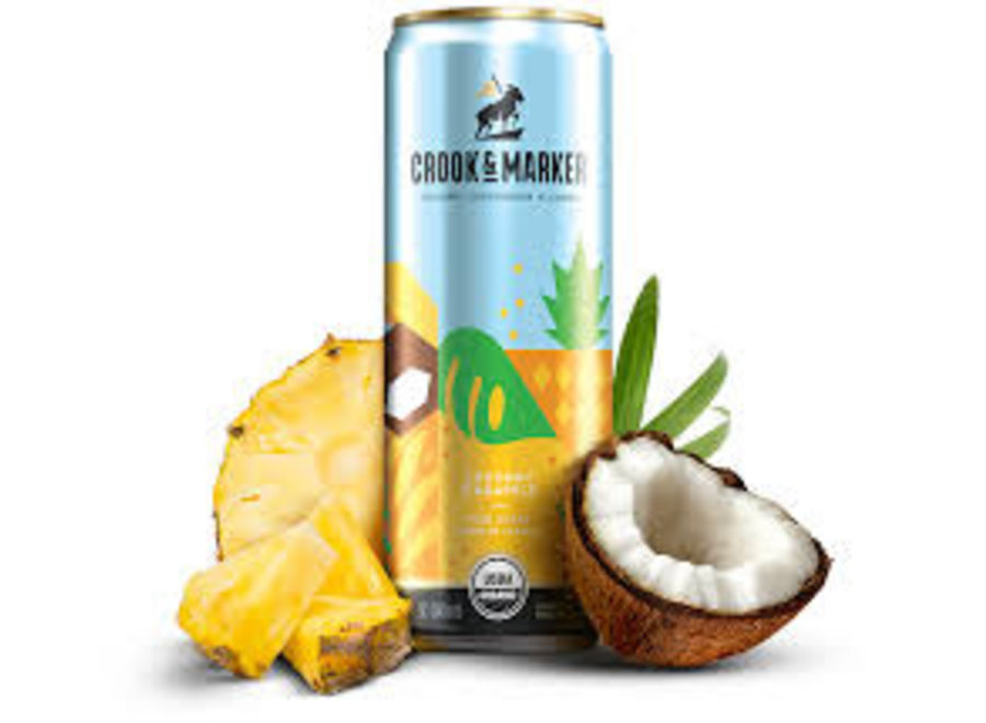 CROOK & MARKER SPIKED COCONUT 8PK/11.5OZ CAN