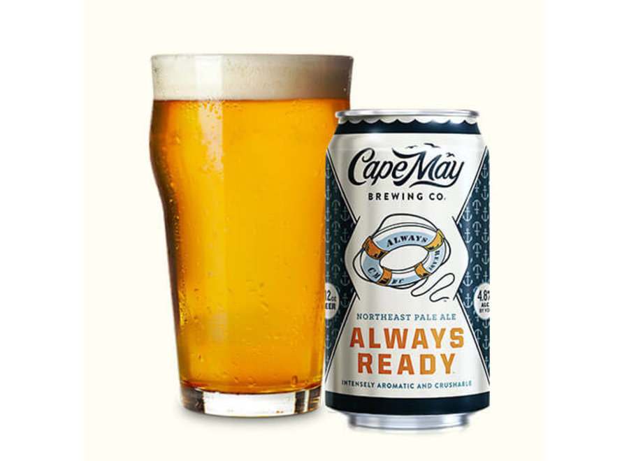 CAPE MAY ALWAYS READY PALE ALE 6PK/12OZ CAN