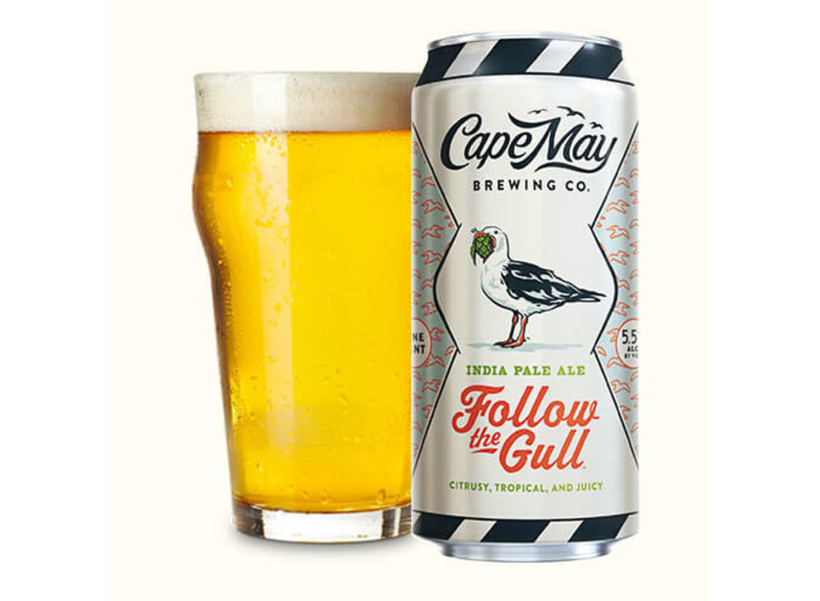 CAPE MAY FOLLOW THE GULL IPA 4PK/16OZ CAN