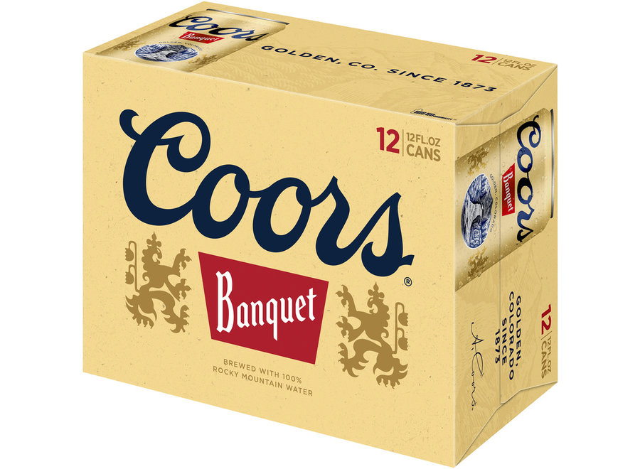 COORS BANQUET BEER 12PK/12OZ CAN