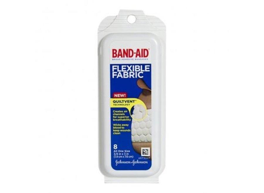 BAND-AID FLEXIBLE FABRIC 8PK