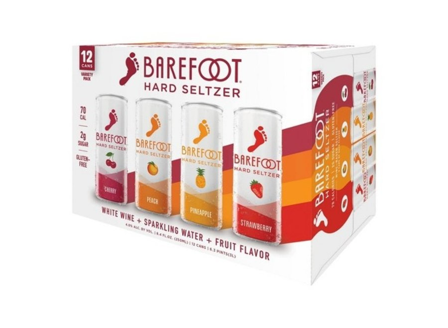 BAREFOOT HARD SELTZER 12PK VARIETY PACK 8.4 OZ CAN