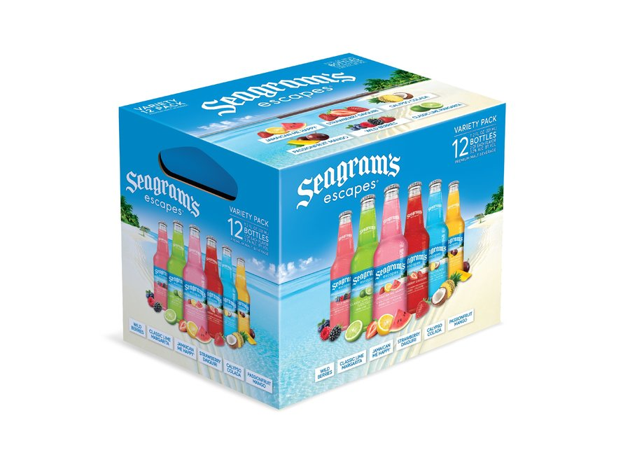 SEAGRAMS ESCAPES ALOHA ICE VARIETY PACK 12PK/11.2OZ BOTTLE