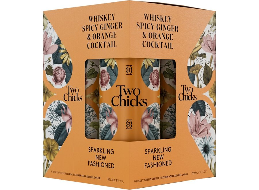 TWO CHICKS SPARKLING NEW FASHIONED 4PK/12OZ CAN