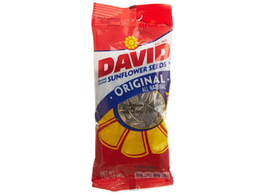 DAVID ORIGINAL SUNFLOWER SEEDS 1 5/8OZ