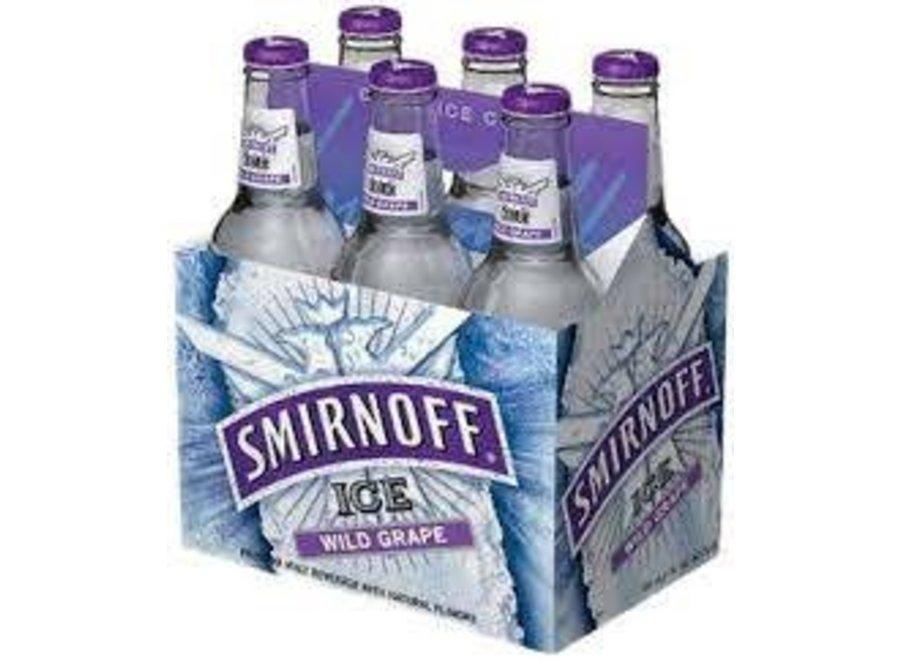 SMIRNOFF ICE GRAPE 6PK/11.2OZ BOTTLE