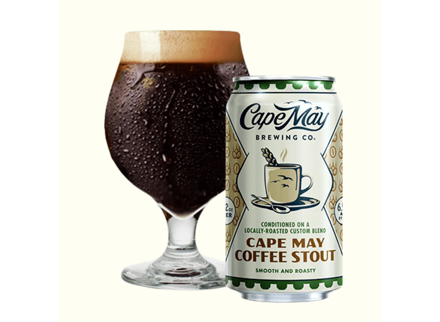 CAPE MAY COFFEE STOUT 6PK/12OZ CAN