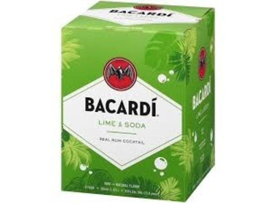 BACARDI LIME SODA COCKTAIL 4PK/355ML CAN