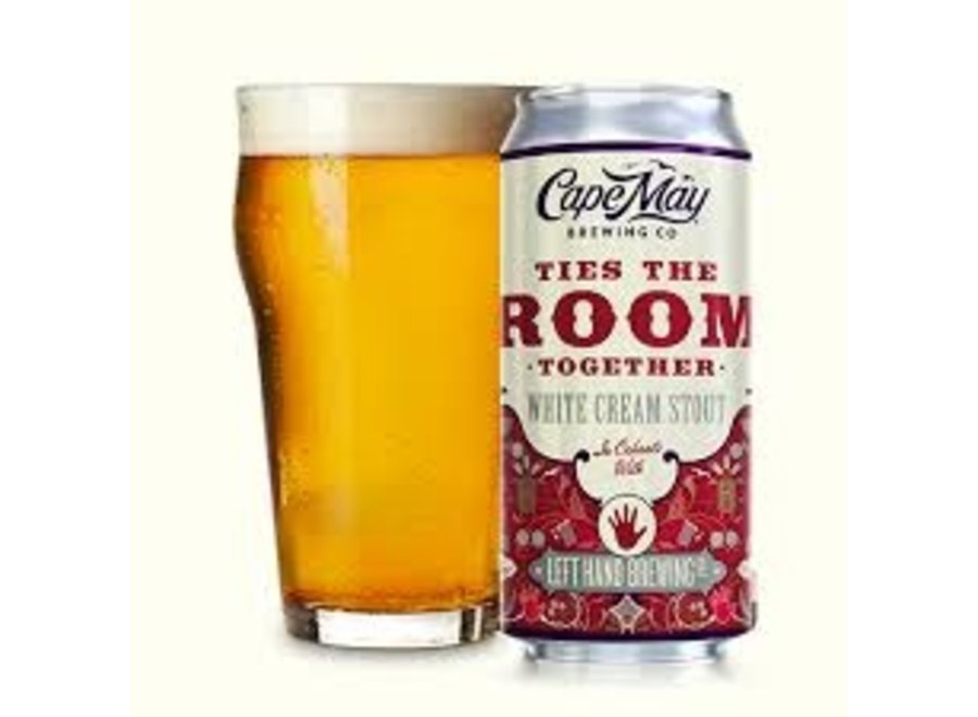 CAPE MAY TIES THE ROOM TOGETHER WHITE CREAM STOUT 4PK/16OZ CAN