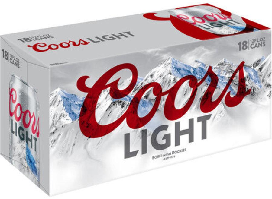 COORS LIGHT 18PK/12OZ CAN