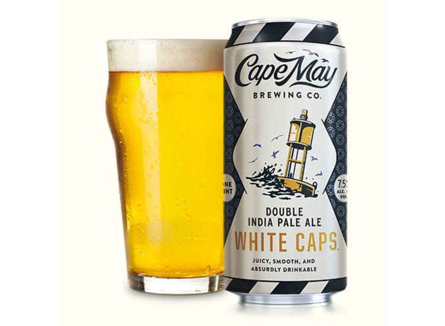 CAPE MAY WHITE CAPS DOUBLE IPA 4PK/16OZ CAN