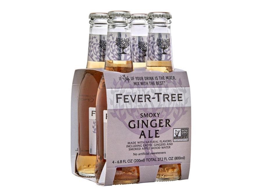 FEVER-TREE SMOKEY GINGER ALE 4PK/200ML