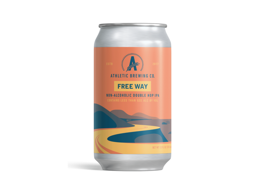ATHLETIC BREWING FREE WAVE NON-ALCOHOLIC DOUBLE IPA 6PK/12OZ CAN