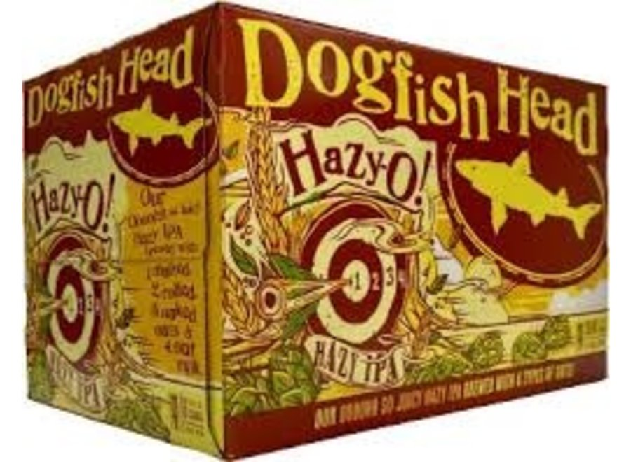 DOGFISH HEAD HAZY O IPA 6PK/12OZ CAN