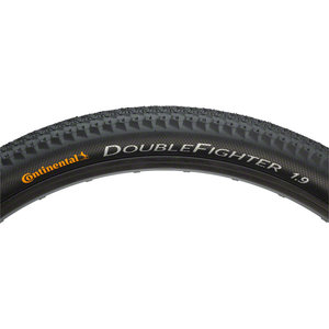 Continental Continental Double Fighter III Tire - 700 x 35, Clincher, Wire, Black
