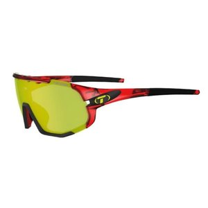Tifosi Optics Sledge, Crystal Red Interchangeable Sunglasses Clarion Yellow/AC Red/Clear