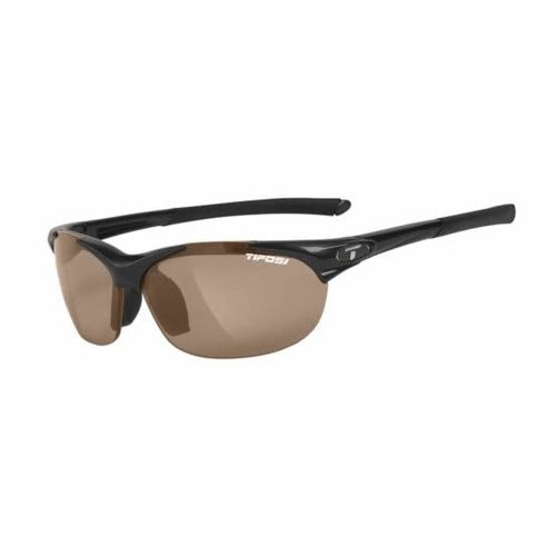 Tifosi Optics Wisp, Gloss Black Polarized Sunglasses Brown Polarized Lenses
