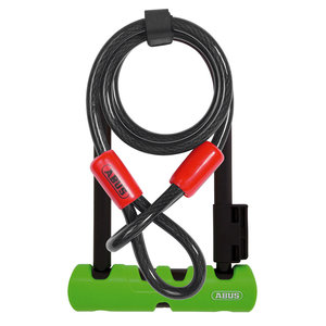 "Abus Ultra 410 U-Lock Plus Cobra Cable: 9"" Shackle, Black"