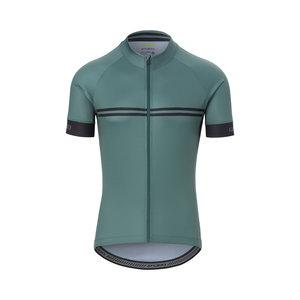 Giro Chrono Sport Jersey Gray Green Classic Stripe