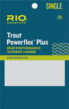 RIO RIO POWERFLEX PLUS 9FT 5X LEADER SINGLE Size: 9ft/5x Test: 6lb/