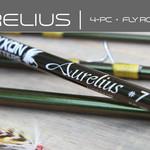 MAXXON Outfitters AURELIUS Fly Rod - 9ft, 5WT, Half Wells, 4pc, Metallic-Olive & Yellow rod, Green tube