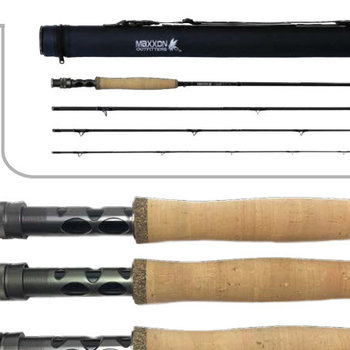 MAXXON Outfitters Maxxon - DOUBLE XX - 9ft, 5WT, Half Wells, 4pc, Carbon & Blue rod, BLK Sleeve & BLU tube