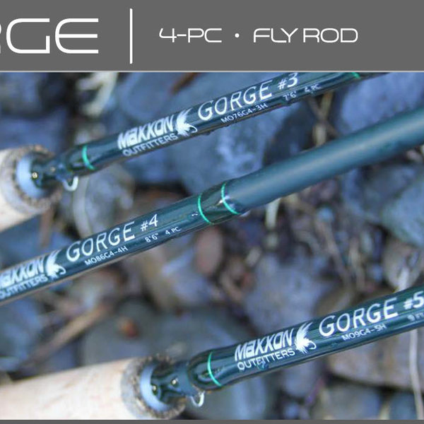 MAXXON Outfitters GORGE - 9ft, 5WT, Half Wells, 4pc, Green & Green rod, Green tube