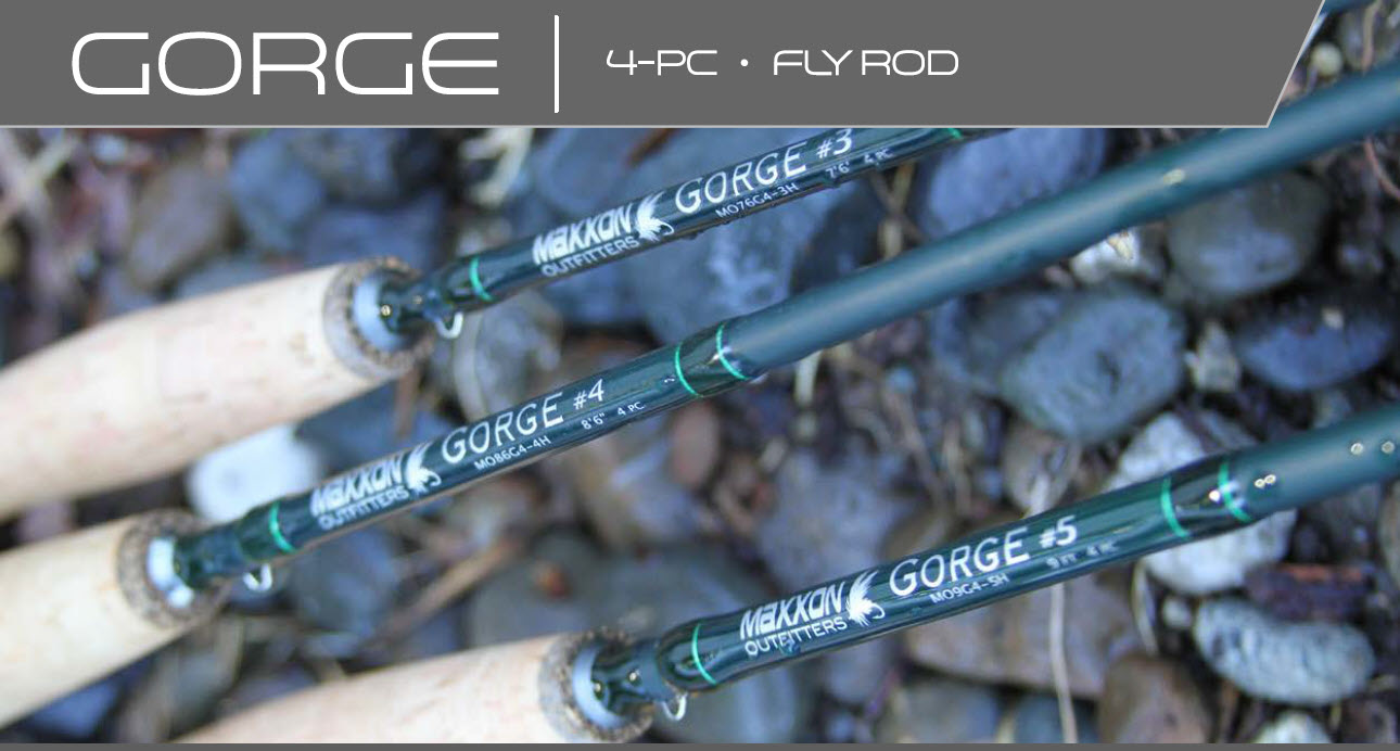 MAXXON Outfitters Maxxon - GORGE - 9ft, 5WT, Half Wells, 4pc, Green & Green rod, Green tube