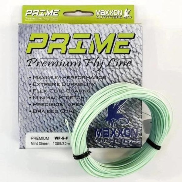 MAXXON Outfitters Prime Premium Weight Forward Floating Fly Line 4 WT Mint Green