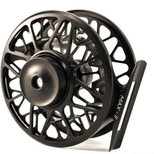 MAXXON Outfitters Maxxon - MAX - ll Reel - 5/6 WT CNC Machined Reel, MATTE BLACK Anodized, Neoprene Pouch